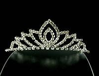 Диадема-обруч с короной, девять лепестков, высота 3,5 см