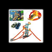 Трек для машинок S 8830: игрушка 123х102х63 см, 2 машинки 6,5 см, держатели на старте