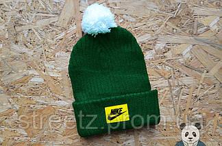 Зимова шапка з бубоном Nike / Найк, фото 3