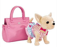 Собачка М 3219 Кикки: сумка на липучке, игрушка длиной 20 см, одежда, зеркало
