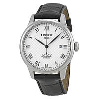 Часы Tissot T-Classic Le Locle Silver Dial Black Leather T41.1.423.33