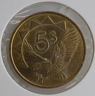 Монета Намибии 5 долларов 1993 г.