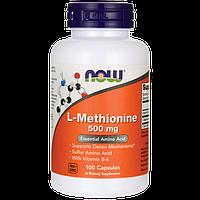 Метионин для нервной системы, L-methionine Now Foods, 500 мг, 100 капсул
