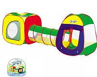 Палатка детская двойная 889-7В: сумка 46х45 см, самораскладывающаяся конструкция, москитные сетки