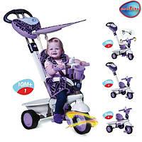 Велосипед  3-х колесный с ручкой и корзиной  Smart Trike 4в1 Seria Dream Touch Steering фиолетовый
