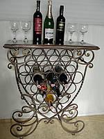 Подставка-столик для вина кованая - 101-21-Т