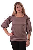 Блуза нарядная женская роза антик с воланами и рюшами бл 004-1