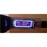 USB тестер тока напряжения потребляемой энергии KEWEISI KWS-V20, фото 1