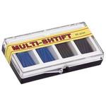 Штифт беззольный MULTI-SHTIFT (80 шт.),асс черн.,син.