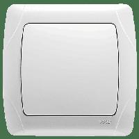 Выключатель проходной белый Viko (Вико) Carmen (90561004)