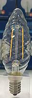 Лампа светодиодная С35TW (свеча витая) filament Е14 3.6 Вт.