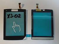Сенсор  Nokia X3-02 Black orig + самоклейка