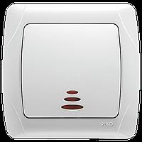Выключатель проходной с подсветкой белый Viko (Вико) Carmen (90561063)
