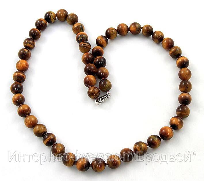 Ожерелье из тигрового глаза