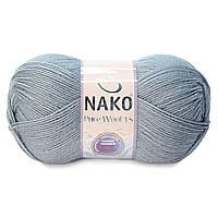 Турецкая пряжа нитки для вязания Nako Poor Wool
