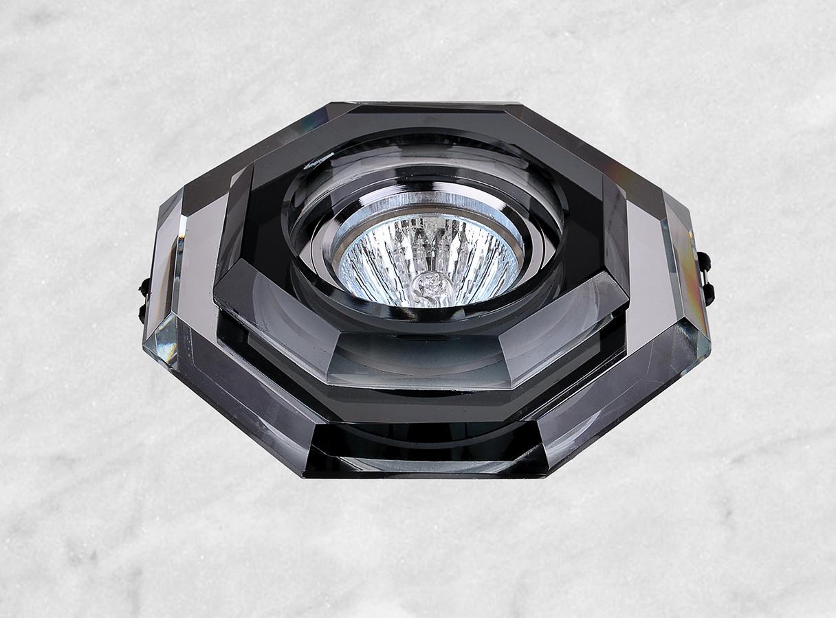 Точечный стеклянный врезной светильник (05-686)