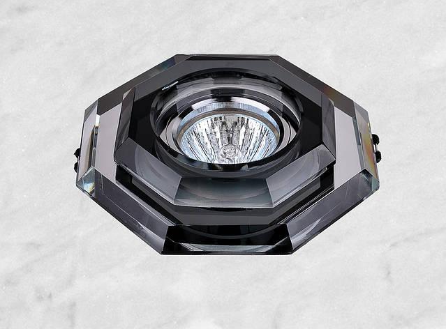 Точечный стеклянный врезной светильник (05-686), фото 2