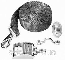 Ремень с нержавеющими карабином, обухом и поворотной пряжкой