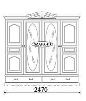 Шкаф 4-дверный Taranko OL-TAR