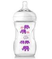 Бутылочка для кормления Natural Elephant Deco 260 мл, 1M+