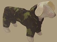 Дождевик-комбинезон КАМУФЛЯЖ №0 для собак с капюшоном (25х40см)