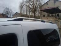 """Рейлинги Renault Dokker 2013+  Crown (тип skyport), сплошный алюминий, цвет """"Серый мат"""""""