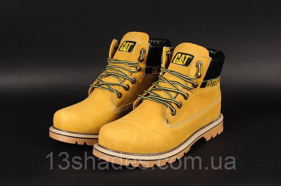 e424954aa Мужские ботинки Caterpillar CAT высокие зимние (с мехом) (жёлтые ...