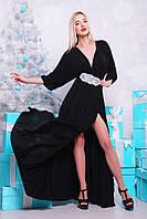 Платье в пол с бисером.