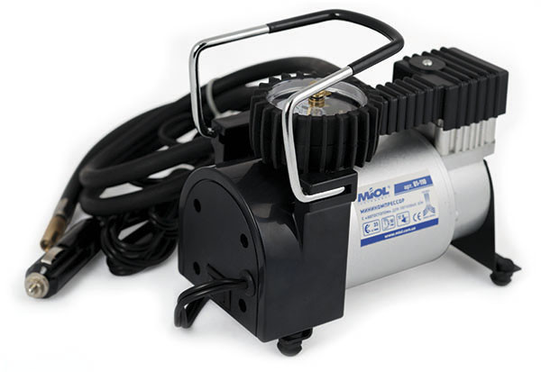 Автомобильный компрессор (автокомпрессор) Miol 81-110 с автостопом