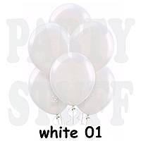 Воздушные шарики Gemar G110 Пастель Белый 12' (30 см), 100 шт