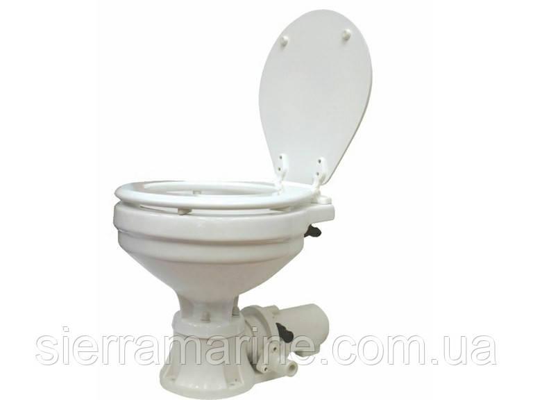 Туалет морський (гальюн) з стандартної чашею. Електрична прокачування (12 В)