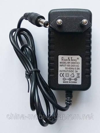 Блок питания 5V 3A WF-3000 адаптер AC DC, 5.5×2.5мм  5.5*2.1 , фото 2