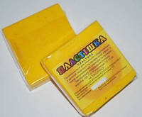 Полимерная глина Пластишка, №0106 желтый HR, 75