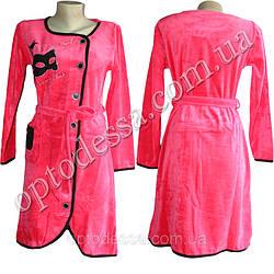 Женский велюровый халат от 44 до 52 размера (vg001)