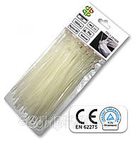 Стяжки кабельные пластиковые белые Neutral 4,6*160мм (100шт)