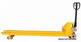 Тележка ручная гидравлическая с длинными вилами 1220 мм, 1500 мм, 1800 мм, 2000 мм