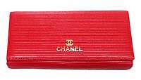 Кошелек женский Chanel (Шанель) С-3501 красный с монетницей снаружи кожа