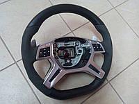 Руль AMG Mercedes X166 с алькантарой (оригинал, б/у, без подушки)