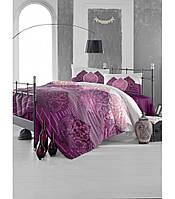 Комплект постельного белья Altinbasak Leyan Bordo Ранфорс 200*220