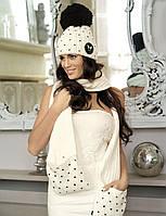 Стильная и яркая шапка, украшенная сердечками, от Kamea - Krappa.