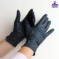 Черные нитриловые перчатки SafeTouch Black ТМ Medicom 50пар размер XS