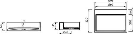 Умывальник Marmorin Modico 600 , фото 2