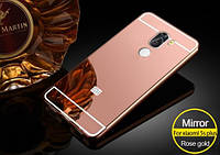 Чехол накладка бампер зеркальный Mirro-like Xiaomi Mi 5s Plus розовый