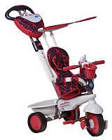 Велосипед  3-х колесный с ручкой и корзиной  Smart Trike 4в1 Seria Dream Touch Steering красный