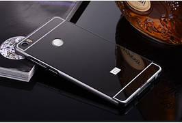 Чехол накладка бампер зеркальный Mirro-like Xiaomi Mi Max черный