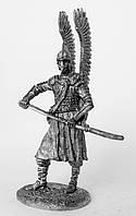 Оловянная фигура. Польский крылатый гусар, 2-я пол. 17 века