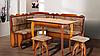 Кухонный комплект Даллас угол + стол + 2 табурета