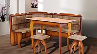 Кухонный комплект Даллас угол + стол + 2 табурета, фото 1