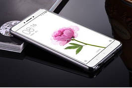 Чехол накладка бампер зеркальный Mirro-like Xiaomi Mi Max золотой