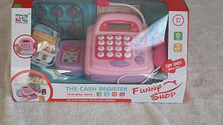 Детский кассовый аппарат  калькулятор, сканер, микрофон
